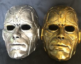 Gold Full Face Mask NZ - 2016 Retro Gold silver Thing masks Reality show accessory Full face cartoon mask Holiday party mask 50pcs lot