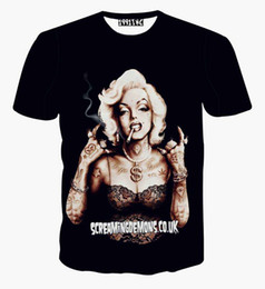 Fashion Tees Canada - Newest fashion sexy men women's 3D roses t shirts graphic print floral Marilyn Monroe tee shirts summer casual tops clothes
