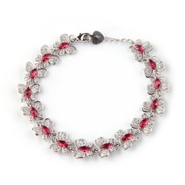 $enCountryForm.capitalKeyWord Australia - Copper Rhodium Plated Bracelets Fashion Red Cubic Zirconia MN3272 Noble Generous Favourite Beautiful Explosion models First class products