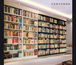 3D Photo Wallpaper Custom 3d Wall Murals Mural Interior Bookshelf Background Paintings Living Room Decor