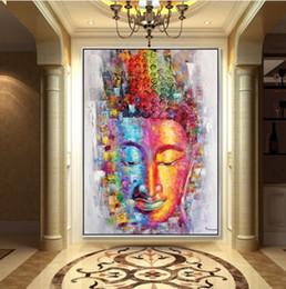 $enCountryForm.capitalKeyWord Australia - Framed 100% Hand Painted Asian Buddhist Art Oil Painting buddha,Home Wall Decor On High Quality Thick Canvas Multiple Size