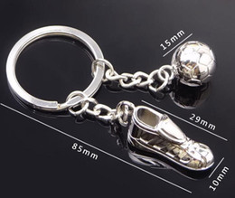 free shoe ornaments 2019 - Creative soccer shoes and football key chain metal ornament mini sports shoes small gifts for soccer fans Hot selling Fr