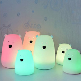 $enCountryForm.capitalKeyWord NZ - Silica gel table lamp Creative Light colorful bear Increase the atmosphere small animal Night light Colorful Glowing Christmas Gift for Kids