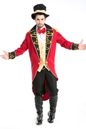 Cosplay Venta Barata Baratos-Cheap Sale Halloween Party Magician Tuxedo Funny Circus Disfraces Masquerade Cosplay Carnaval Envío gratis