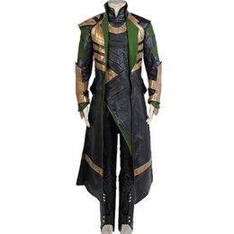 Chinese  Malidaike Suit Thor The Dark World Loki Whole Set Cosplay Halloween Costume Leather Jacket manufacturers