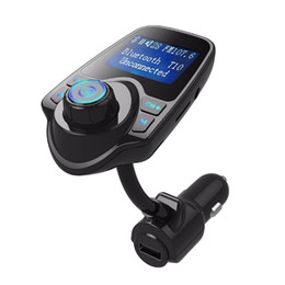 dhl car UK - DHL T10 Bluetooth Car Kit MP3 Player Hands-free Call Wireless FM Transmitter Car charger Support Micro TF Card