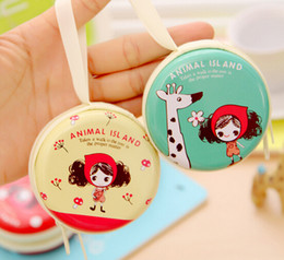 $enCountryForm.capitalKeyWord Canada - Coin Purse Beauty Tinplate Mini Purse key Wallets Round Headphone Package Change Coin Bag Zipper Love Letter Small Gifts Best For Resell