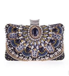 $enCountryForm.capitalKeyWord Canada - Women Handmade Beads Chain Clutch Bags High Quality Lady Shoulder Bag Evening Bags 2016 Fashion Brand New Beautiful HuiLin KY19