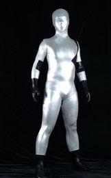 funny superheroes costumes Canada - Classic silver black color Shiny Fullbody Nightwing Superhero Halloween Cosplay Costume