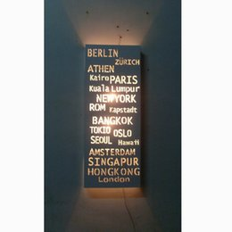 $enCountryForm.capitalKeyWord UK - CE ROHS modern fashion Look Nordic style of white wall lamp PARIS Destination Sign Banner Hardware Bus Roll subway transit light