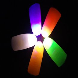 light fingers magic toy 2019 - Bright Finger Lights Close Up Thumbs Fingers Trick Magic Light Glow LED Fingers Lamp Toys IC657 discount light fingers m