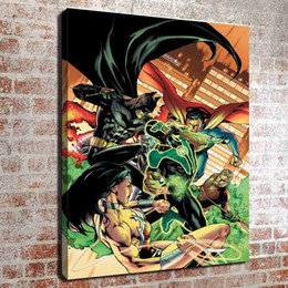 $enCountryForm.capitalKeyWord NZ - (No frame) Green lantern three HD Canvas print Wall Art Oil Painting Pictures Home Decor Bedroom living room kitchen Decoration