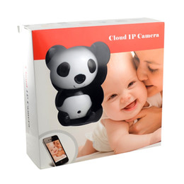 panda camera Canada - HD 1280 X 720P Wireless Video Baby Monitor Night Vision Cute Panda Cloud Network IP Camera with Two-way Intercom Wide Angle Lens