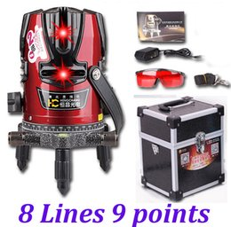 laser cross lines 2019 - Wholesale-High quality 8 lines 9 point Cross line laser level 4V4H 360degree rotary laser level laser line cheap laser c