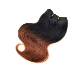 $enCountryForm.capitalKeyWord UK - 7a Grade 1b 33 Brazilian Peruvian Malaysian Human Hair Weave Body Wave Medium Brown Two Tone Ombre Hair Extensions 8 Inch 6 Pcs