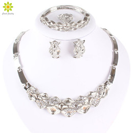 $enCountryForm.capitalKeyWord Canada - Silver Plated African Costume Jewelry Sets Women Fashion Latest Indian Dubai Bridesmaid Wedding Party Necklace Set Gift