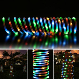 Solar halloween rope lights online shopping solar halloween rope 50 led solar rope lights waterproof with light sensor for christmas wedding party with free shipping aloadofball Images