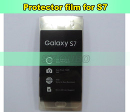 Screen Lcd Protector Canada - LCD Screen Plastic Seal Factory Screen Protective Film for Samsung S7 Glass Protector Repair Accessories 300pcs lot