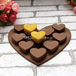 Heart Shape Muffin Sweet Candy Jelly fondant Cake chocolate Mold Silicone E00245 SMAD on Sale