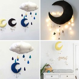 $enCountryForm.capitalKeyWord Canada - Wholesale- Lovely Moon Shape Pendant Hanging Ornament Baby Bed Crib Cot Decoration Gifts