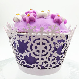 $enCountryForm.capitalKeyWord NZ - Cupcake laser cut wrapper cupcake paper packing muffin cake halloween party supply gift packing paper free shipping