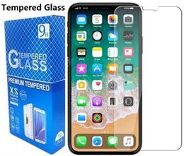 $enCountryForm.capitalKeyWord NZ - For Iphone 8 Tempered Glass Screen Protector For Iphone 7 6S Plus 5S 4S For Samsung Galaxy J7 Max Perx 2017 Retail Package
