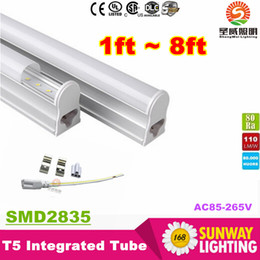 277v t5 led tube lights Australia - T5 4ft Led Light Tubes 22W 2300 Lumens Integrated 1.2m 1200mm Led Fluorescent Tube Light AC 110-277V + CE ROHS