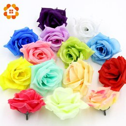 wholesale 10pcs big rose artificial flowers ball head brooch festival home decor wedding decoration decorative flower silk flower