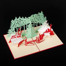 $enCountryForm.capitalKeyWord Canada - Handmade Santa Ride Christmas Cards Creative Kirigami & Origami 3D Pop UP Greeting Card tree Design for Kids Friends hot