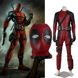 custom made costume deadpool UK - New Modified Version X-Men Deadpool Mutants Wade Winston Wilson Cosplay Costume with Mask Customize High Quality