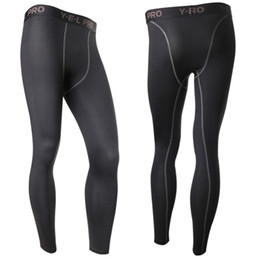 Chinese  Wholesale-New Men's Compression Base Layer Pants Long Tight Under Skin Sportswear Gear Bottom L4 KR2 manufacturers