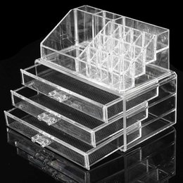 $enCountryForm.capitalKeyWord Canada - Acrylic Makeup Organizer Storage Box Case Cosmetic Jewelry 3 Drawer Cases Holder Makeup Container Boxes Rangement Maquill