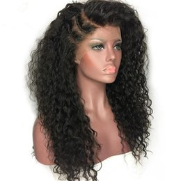 brazilian virgin kinky curly lace wig UK - Hot Selling Hair Products Virgin Brazilian Hair Natural Color 8-26inch 130-180% Density Full Lace Human Hair Wigs