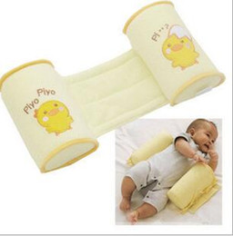 Comfortable Cotton Anti Roll Pillows Lovely Baby Toddler Safe Cartoon Sleep Head Positioner Anti-rollover for Baby Bed on Sale
