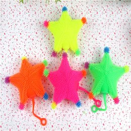 yellow monkey toy UK - The stall selling Maomao night market LED toys small animal Maomao monkey mix vent ball