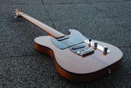 Großhandel HS Anderson Hohner Madcat Vintage Seltene E-Gitarre Flamme Ahorn Top Gelbes Finish Nicer Red Turtle Pickguard TL