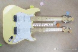 China Custom SHOP Cream White 12 strings Guitar 1275 Double Neck 6 strings & 12 strings Electric Guitar high quality suppliers
