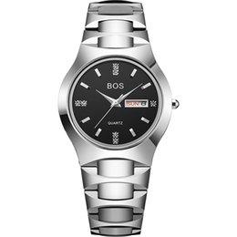 Angela BOS наручные часы стали вольфрама стразы водонепроницаемый сапфир зеркало Кварцевые наручные часы Мужчины Женщины календарь пара часы может OEM