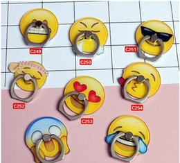China 2017 Mobile phone universal The creative personality eccentric funny QQ emoji holder The ring buckles Mobile phone stents suppliers
