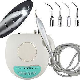 Escalador ultrasónico barato con cuatro extremidades que trabajan Escalador ultrasónico dental con la fábrica de la pieza de mano de la luz LED de la fibra óptica directo para la venta