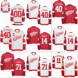 68c9619494e Youth Kids Detroit Red Wings Jersey 13 Pavel Datsyuk 35 Jimmy Howard 55  Niklas Kronwall 93 Johan Franzen Custom Hockey Jerseys Mix Order