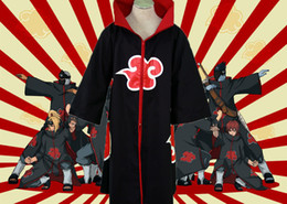 Wholesale naruto itachi uchiha cosplay costume for sale - Group buy For Halloween Party COS Anime Naruto Akatsuki Uchiha Itachi Robe Cloak Coat Cosplay Costume Adult Unisex