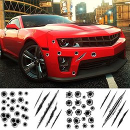 $enCountryForm.capitalKeyWord Australia - Car Styling 3D Bullet Hole Car Sticker Simulation Scratch Decal Waterproof Stickers For Automobiles Motorcycle Fake Bullet Holes Funny Decal