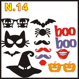 $enCountryForm.capitalKeyWord Canada - 1set 14pcs Halloween party Photo Props Moustache Hat Small Eyes Paper Beard Wedding Party Supplies Bachelorette Party Photo Booth