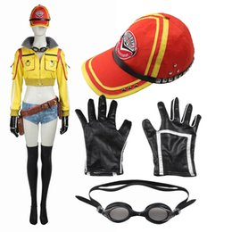 hero jacket Canada - Popular Games COS Final Fantasy XV Cindy Aurum Cosplay Costume Mechanic Jacket Hat Accessories Custom-made Any Size