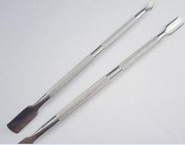 Stainless Steel Cuticle Pusher Leftover Skin Remover Manicure Nail Silver Nail Salon on Sale