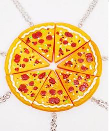 Pizza Necklace Canada - Fashion necklaces best friends 7 pieces Pizza choker necklaces unisex necklaces