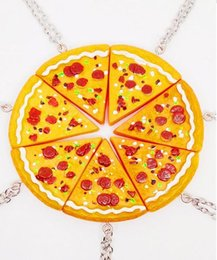 Wholesale Fashion necklaces best friends pieces Pizza choker necklaces unisex necklaces