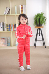 $enCountryForm.capitalKeyWord Australia - high quality children parkas suit cotton-padded clothing set for kids boys girls winter warm sets down coat pants clothes cheap wholesale