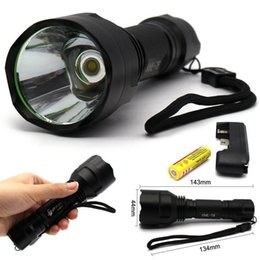 C8 Cree xm l t6 online shopping - Super Bright C8 Modes LM CREE XM L T6 Camping LED Flashlight Torch Light Lamp Kit Black with x battery charger